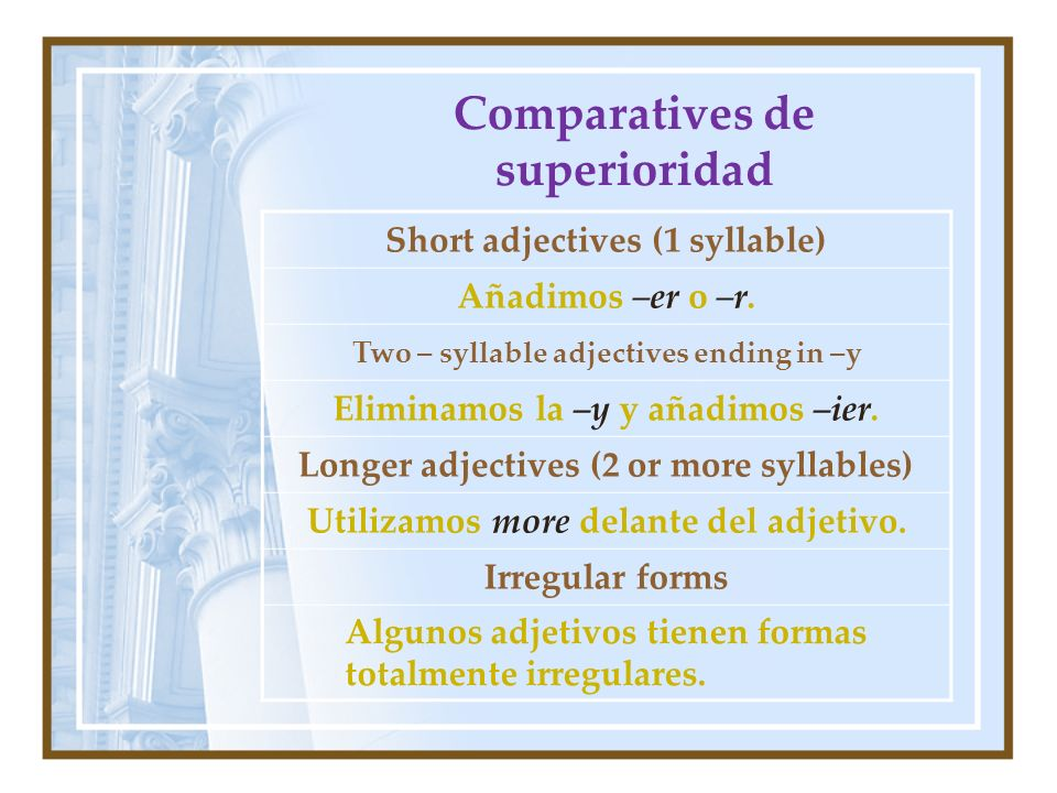 Comparatives de superioridad