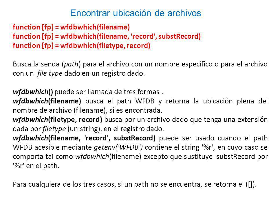 Encontrar ubicación de archivos