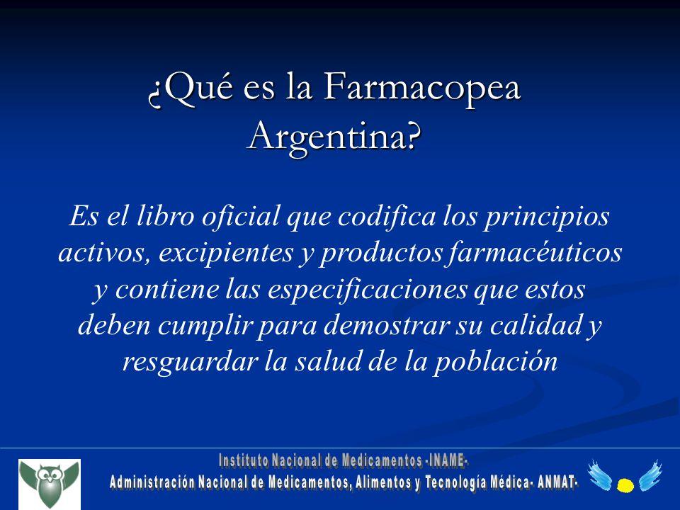 ¿Qué es la Farmacopea Argentina