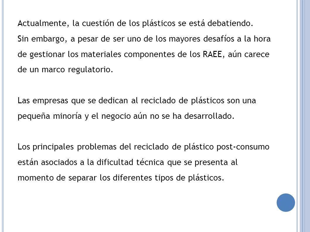 Actualmente, la cuestión de los plásticos se está debatiendo