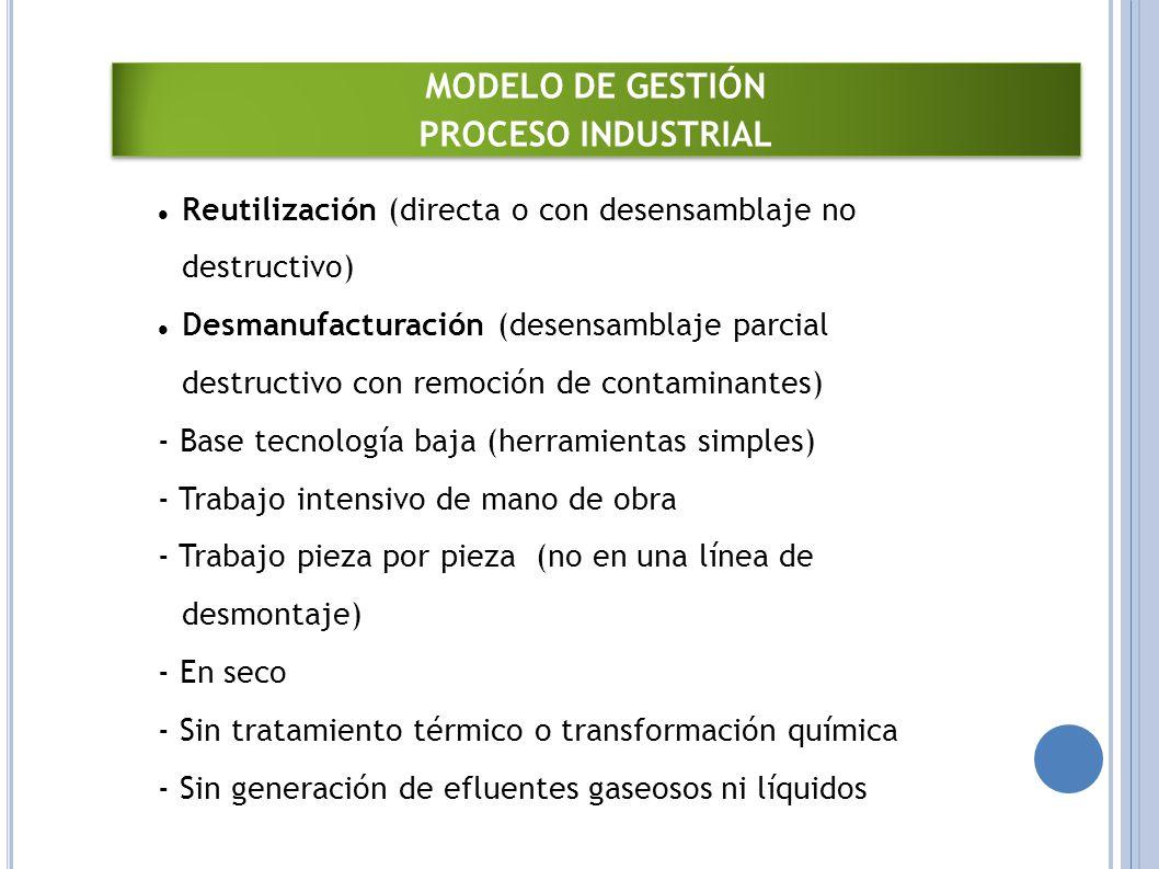 MODELO DE GESTIÓN PROCESO INDUSTRIAL