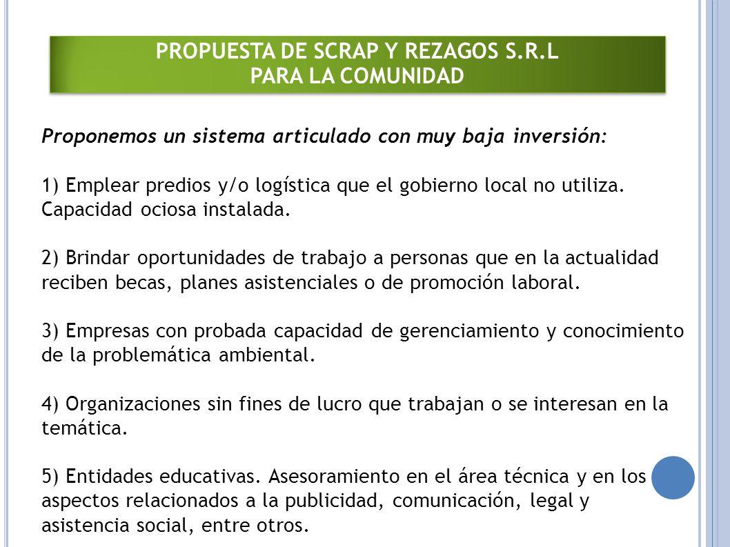 PROPUESTA DE SCRAP Y REZAGOS S.R.L