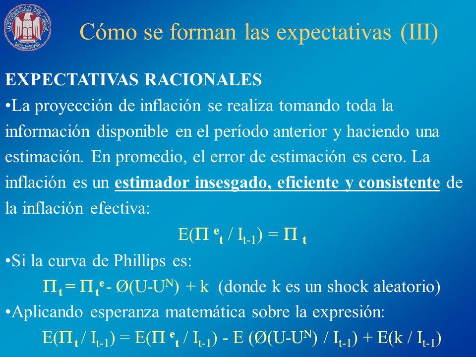 Cómo se forman las expectativas (III)