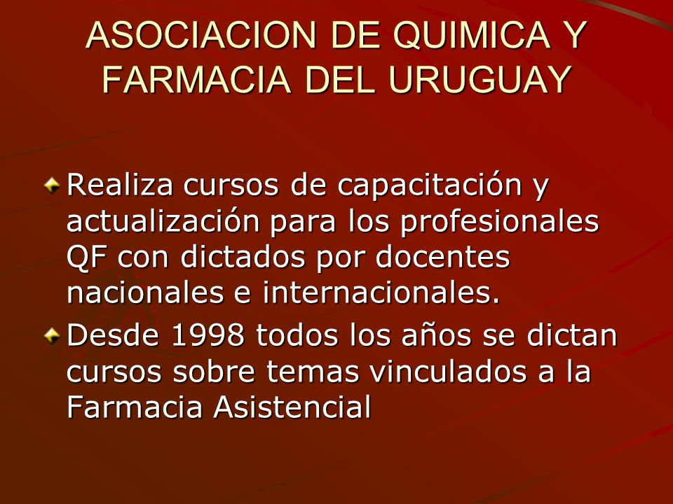 ASOCIACION DE QUIMICA Y FARMACIA DEL URUGUAY