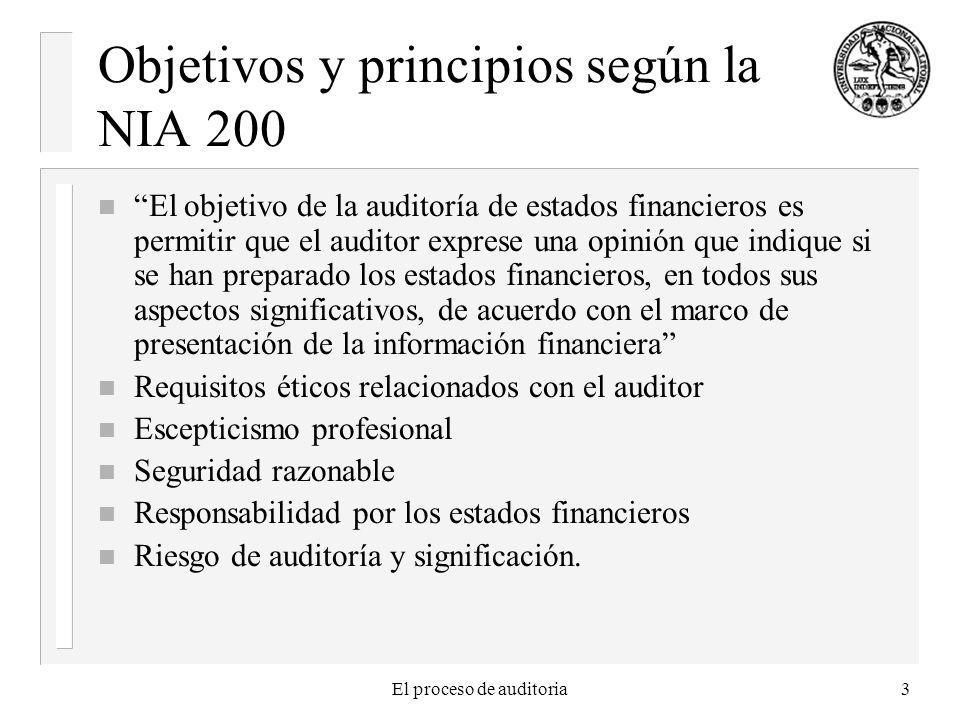 Objetivos y principios según la NIA 200