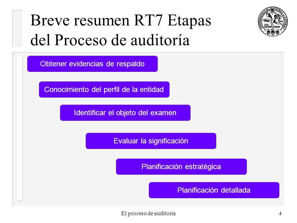 Breve resumen RT7 Etapas del Proceso de auditoría