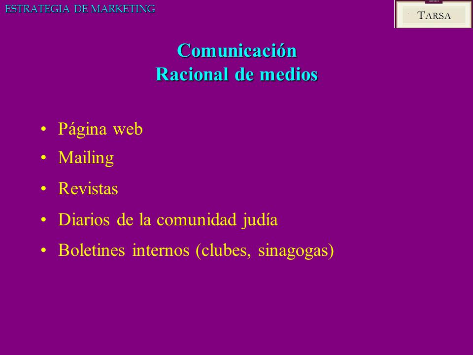 Comunicación Racional de medios