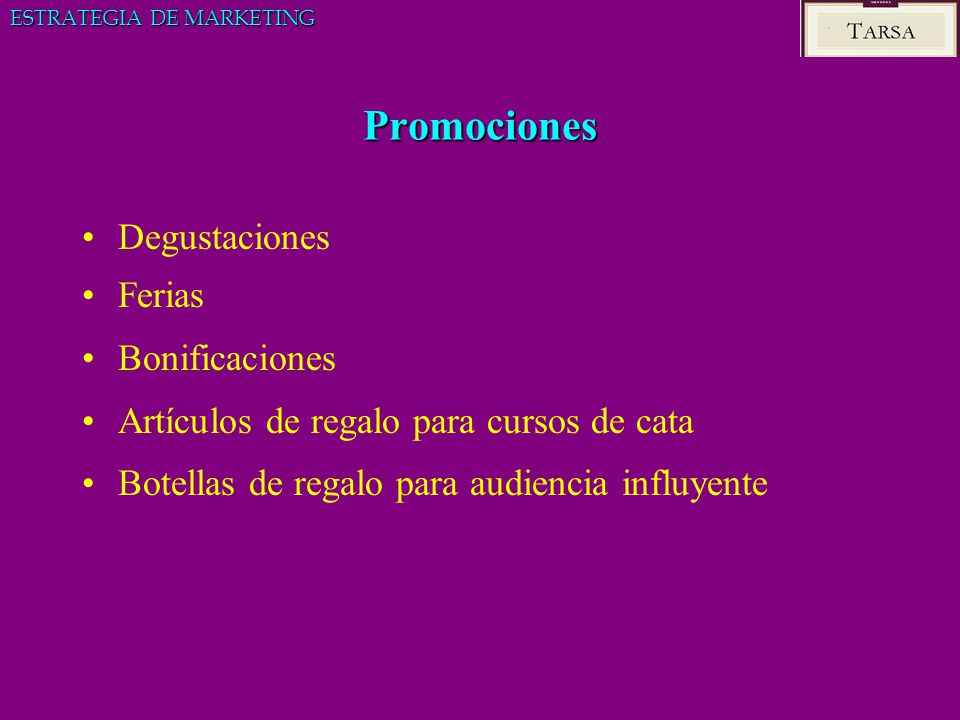Promociones Degustaciones Ferias Bonificaciones