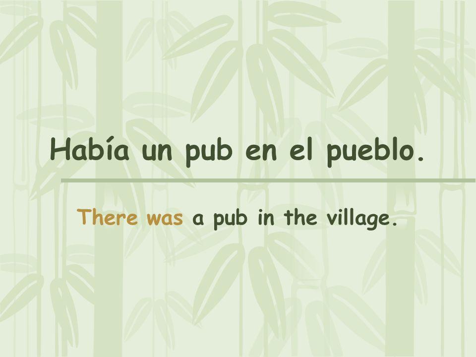 Había un pub en el pueblo.
