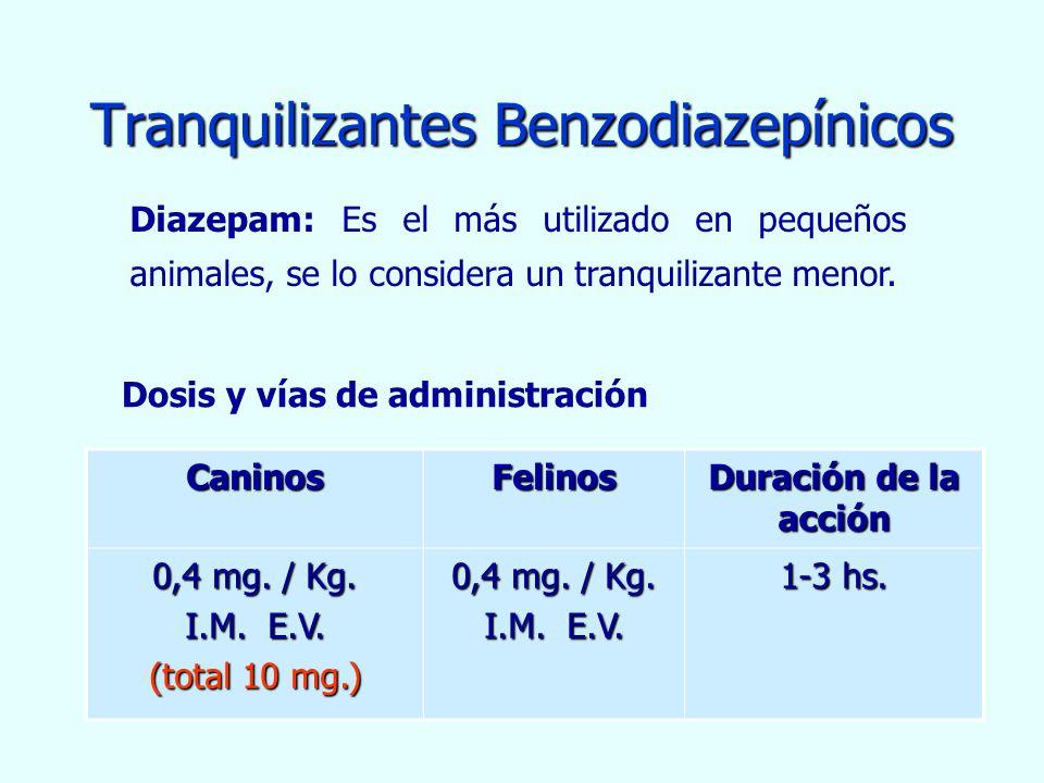 Tranquilizantes Benzodiazepínicos