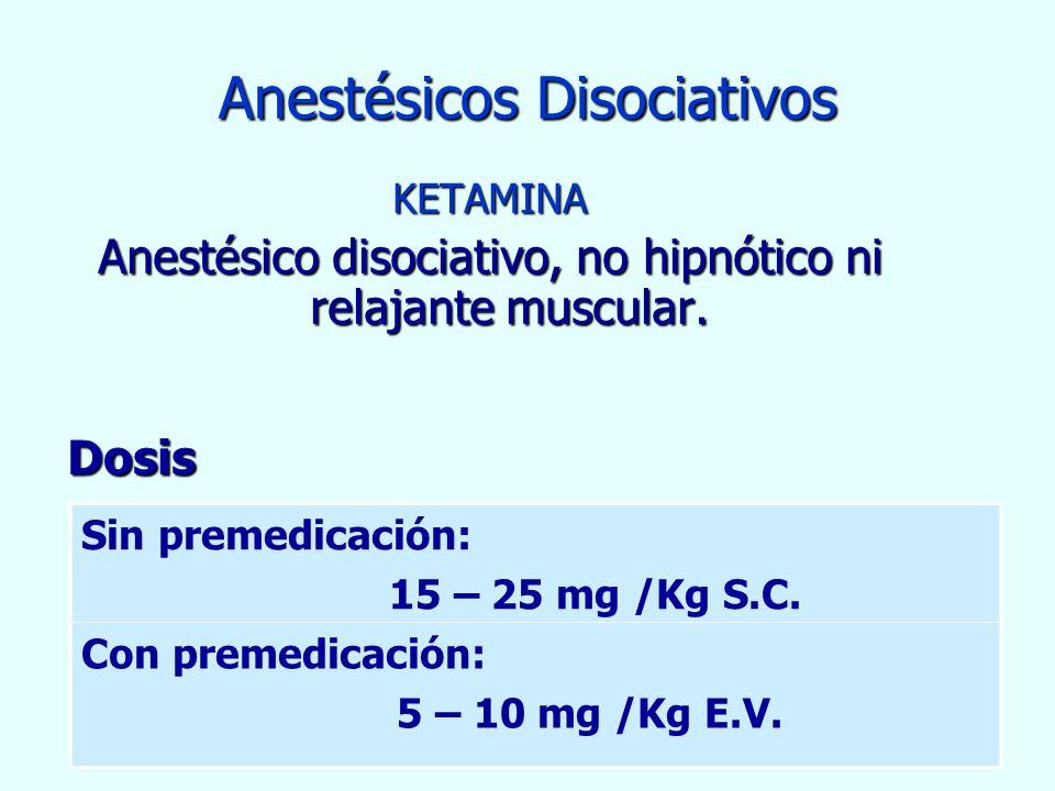 Anestésicos Disociativos