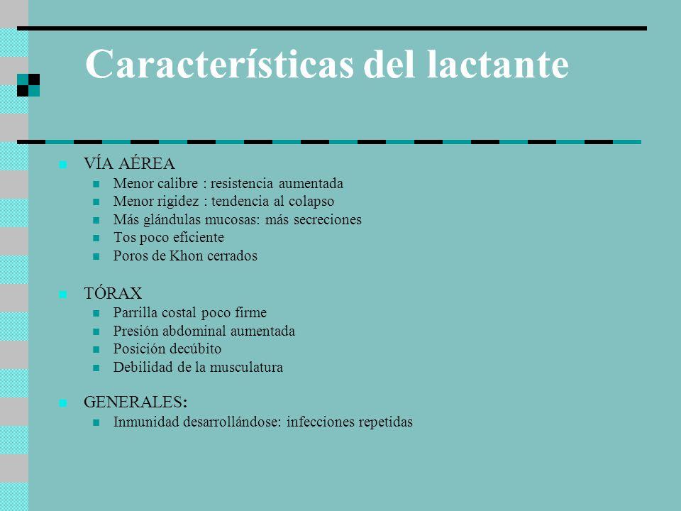 Características del lactante