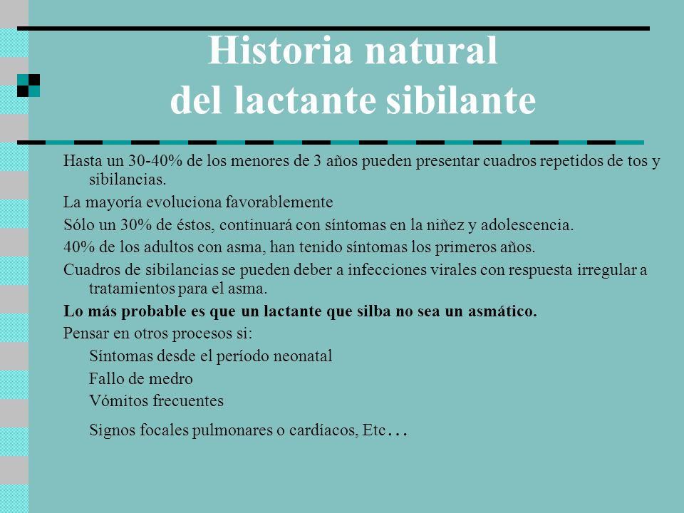 Historia natural del lactante sibilante