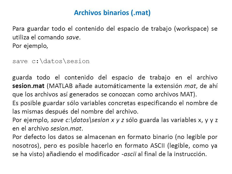 Archivos binarios (.mat)