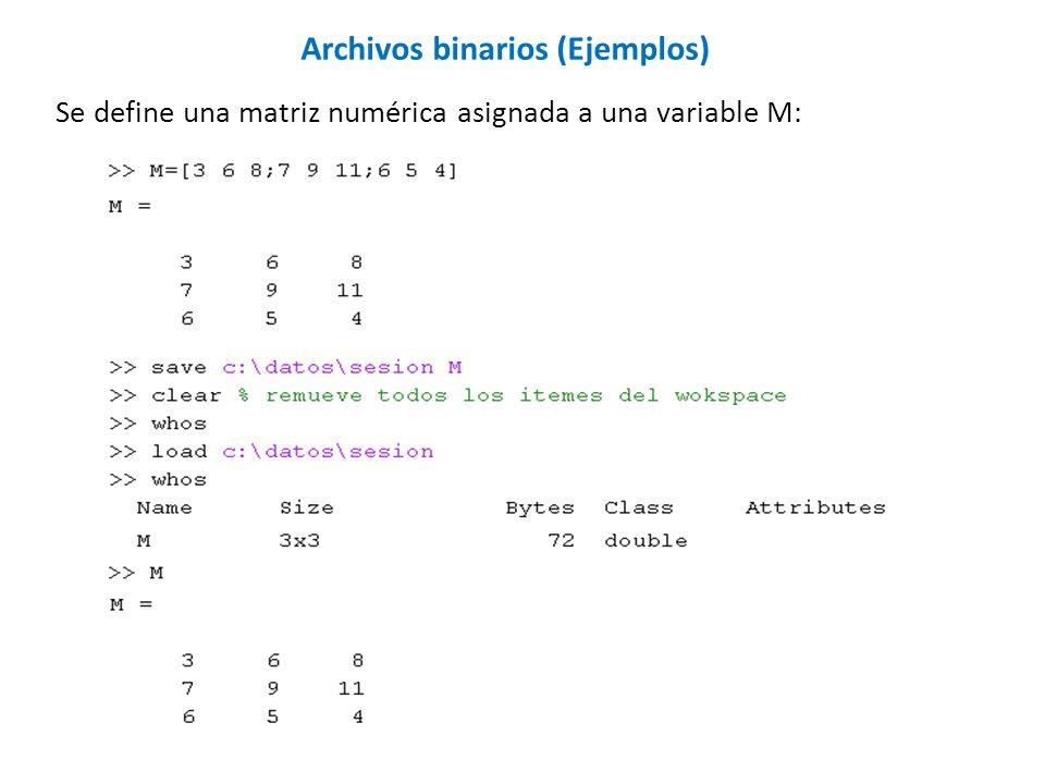 Archivos binarios (Ejemplos)