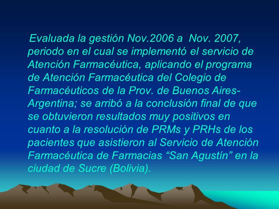 Evaluada la gestión Nov. 2006 a Nov