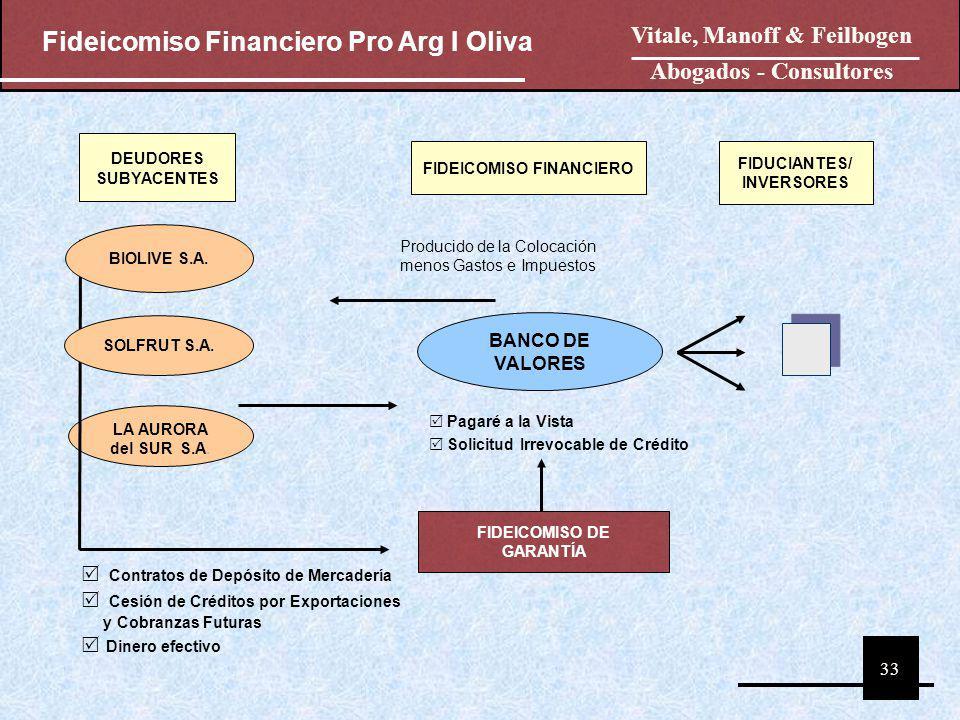 Fideicomiso Financiero Pro Arg I Oliva