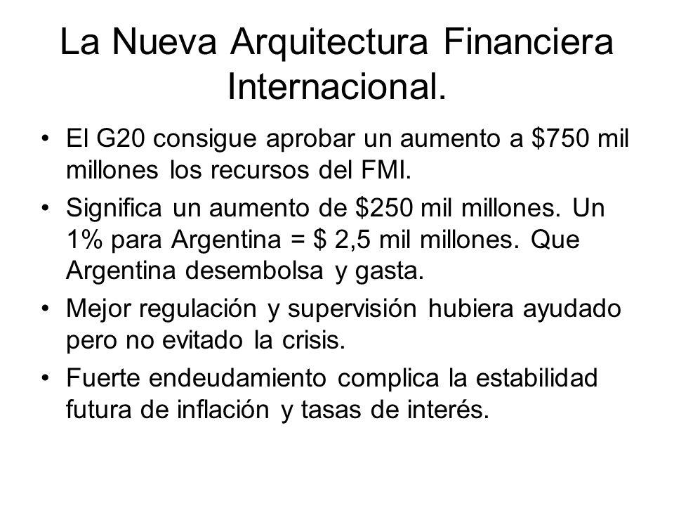 La Nueva Arquitectura Financiera Internacional.