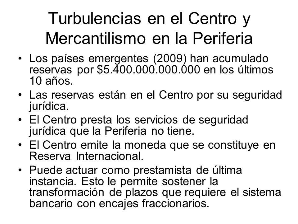 Turbulencias en el Centro y Mercantilismo en la Periferia