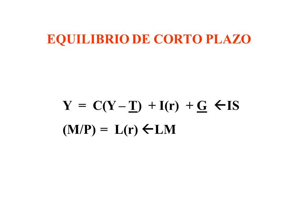 EQUILIBRIO DE CORTO PLAZO