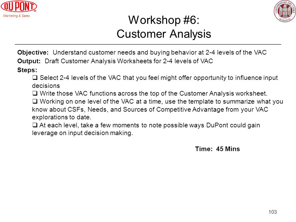 Workshop #6: Customer Analysis