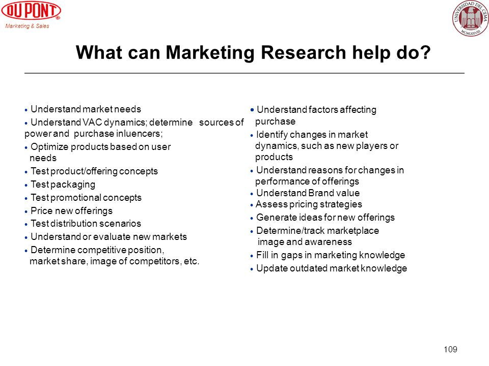 What can Marketing Research help do