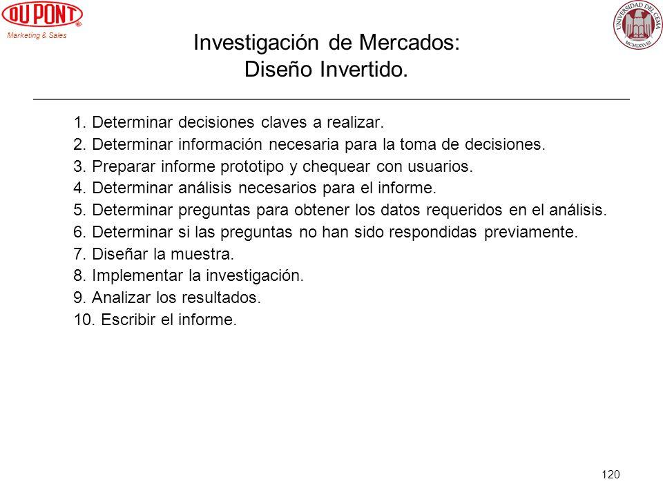 Investigación de Mercados: Diseño Invertido.