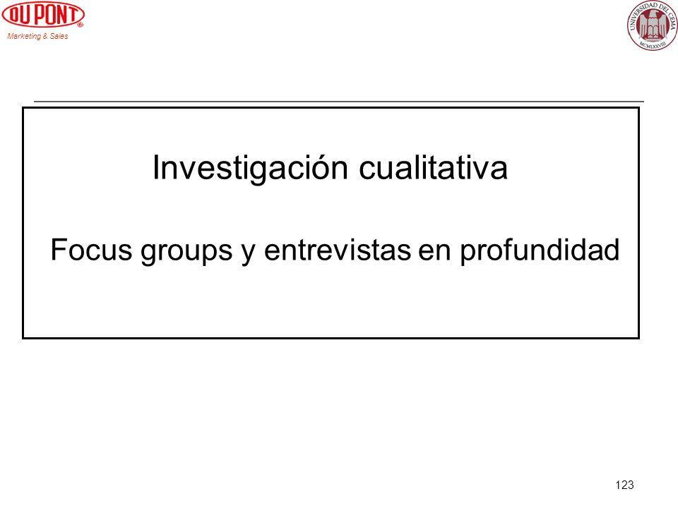 Investigación cualitativa Focus groups y entrevistas en profundidad
