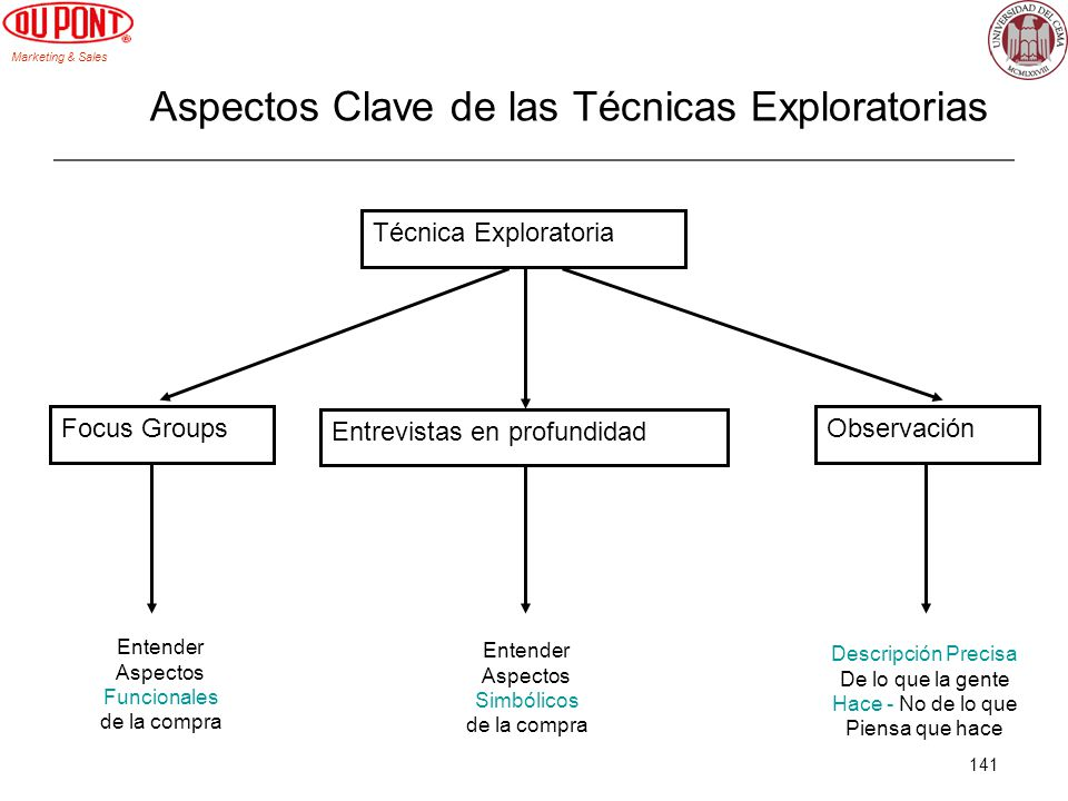 Aspectos Clave de las Técnicas Exploratorias