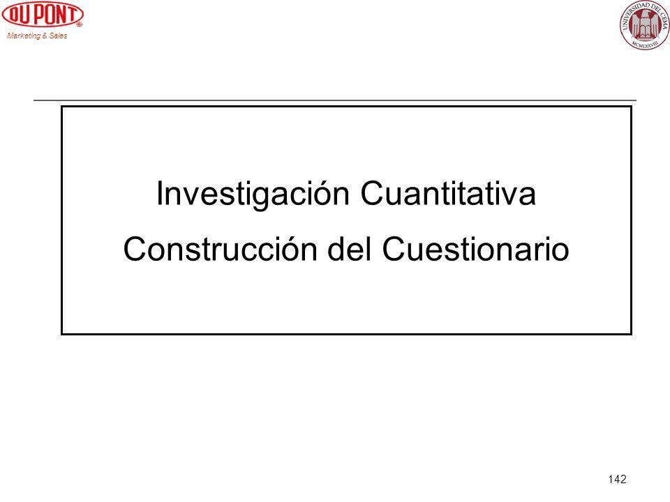 Investigación Cuantitativa Construcción del Cuestionario