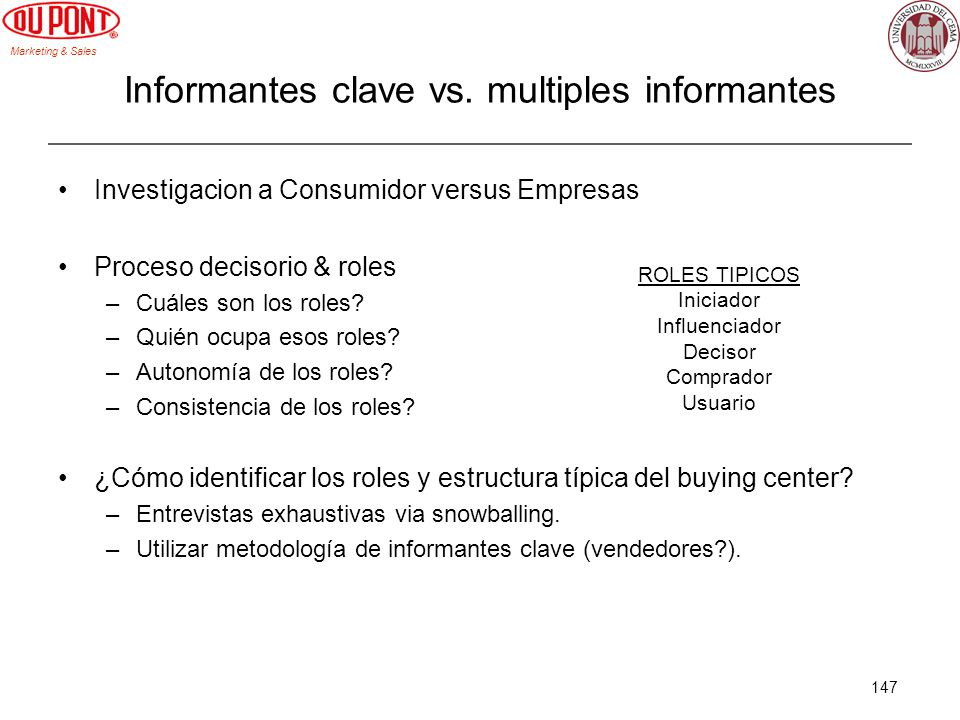 Informantes clave vs. multiples informantes