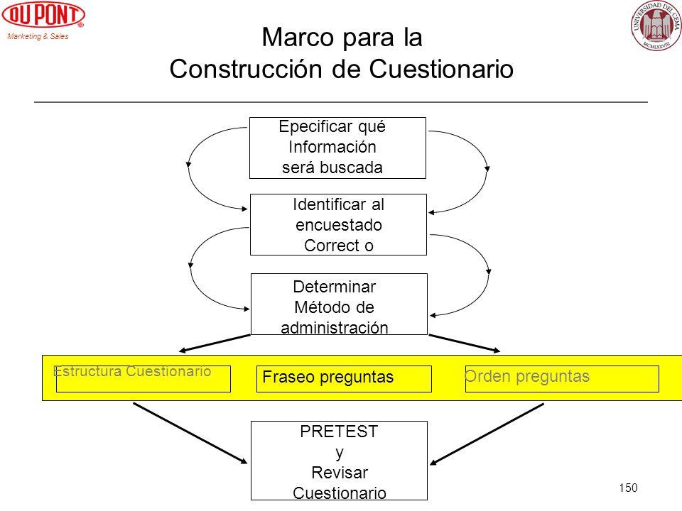 Marco para la Construcción de Cuestionario