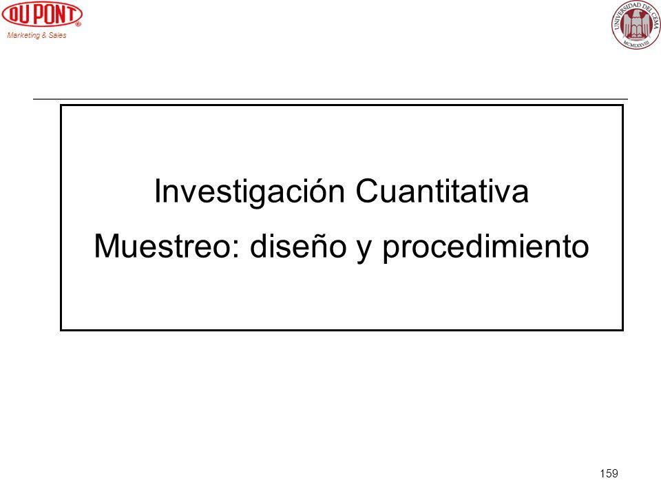 Investigación Cuantitativa Muestreo: diseño y procedimiento