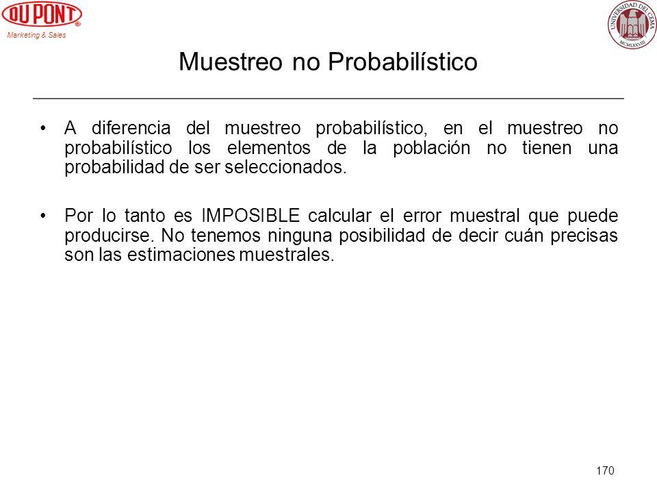 Muestreo no Probabilístico