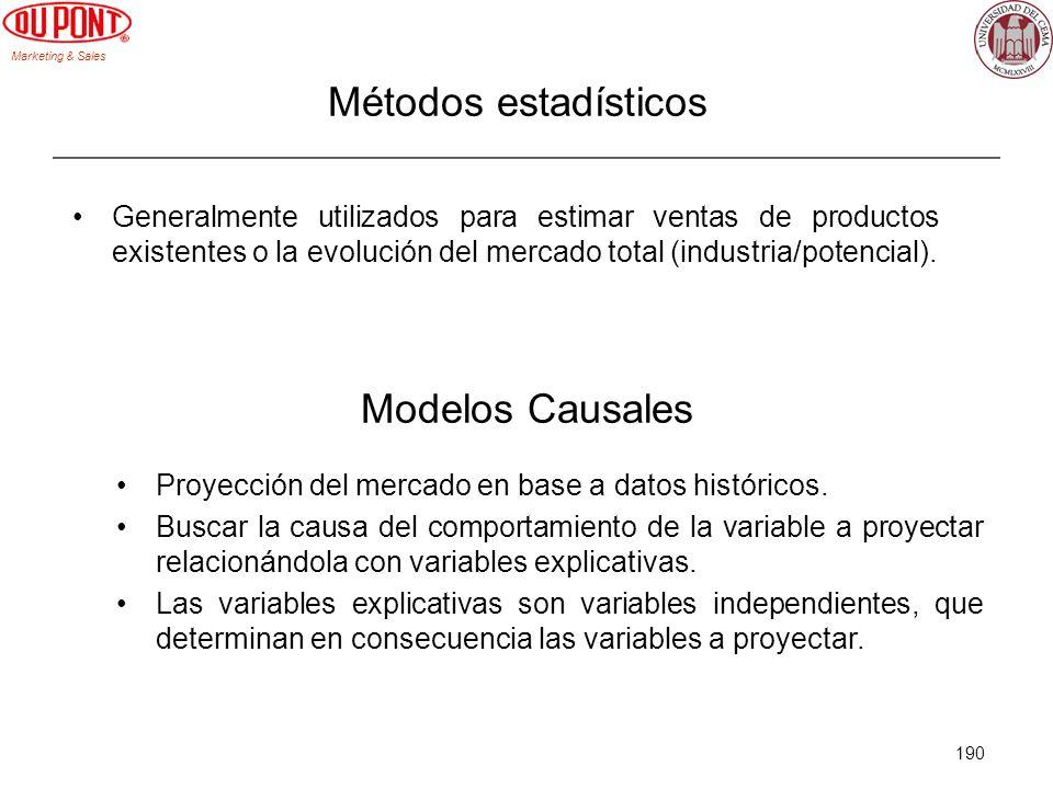 Métodos estadísticos Modelos Causales