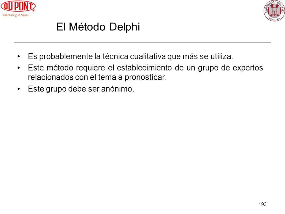 El Método Delphi Es probablemente la técnica cualitativa que más se utiliza.