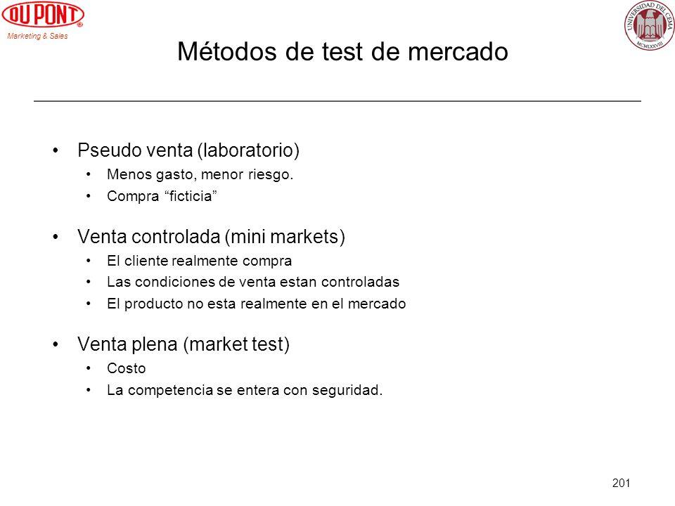 Métodos de test de mercado