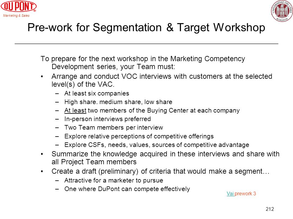 Pre-work for Segmentation & Target Workshop