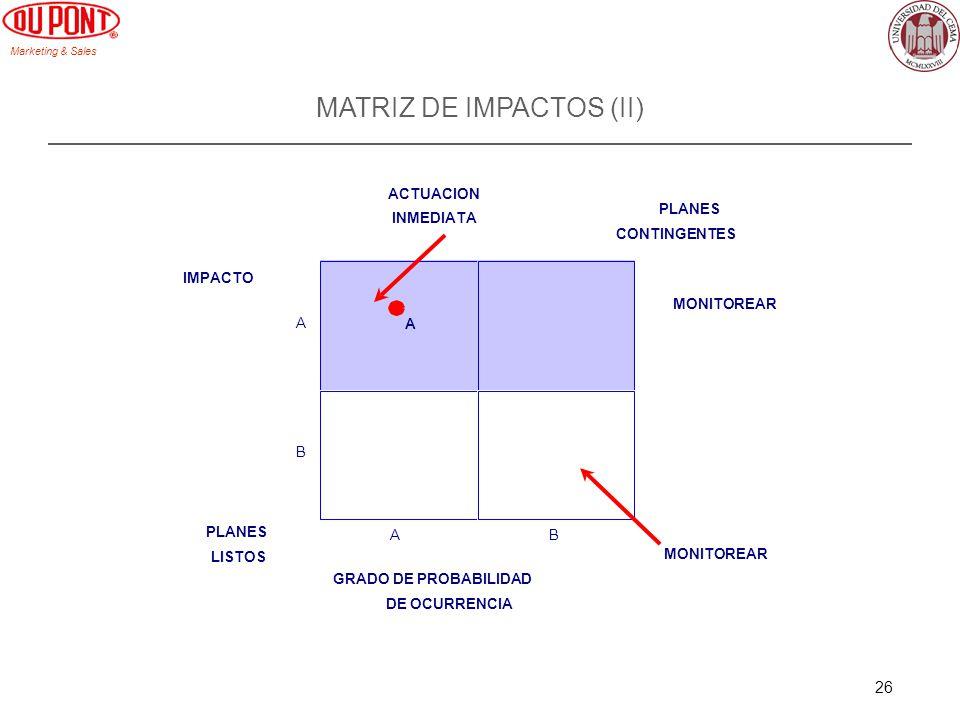 MATRIZ DE IMPACTOS (II)