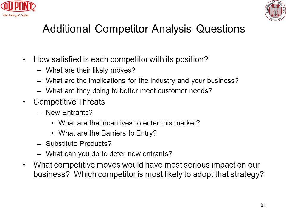 Additional Competitor Analysis Questions