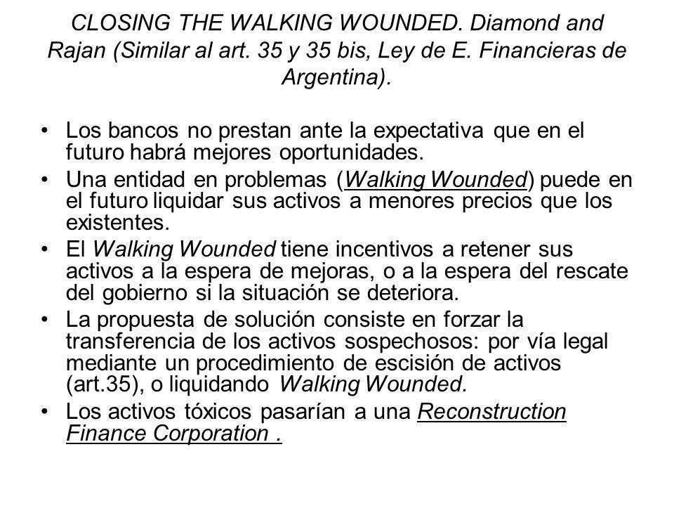 CLOSING THE WALKING WOUNDED. Diamond and Rajan (Similar al art