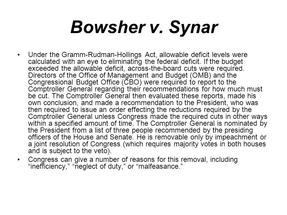 Bowsher v. Synar