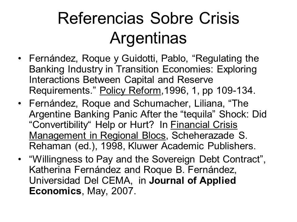 Referencias Sobre Crisis Argentinas