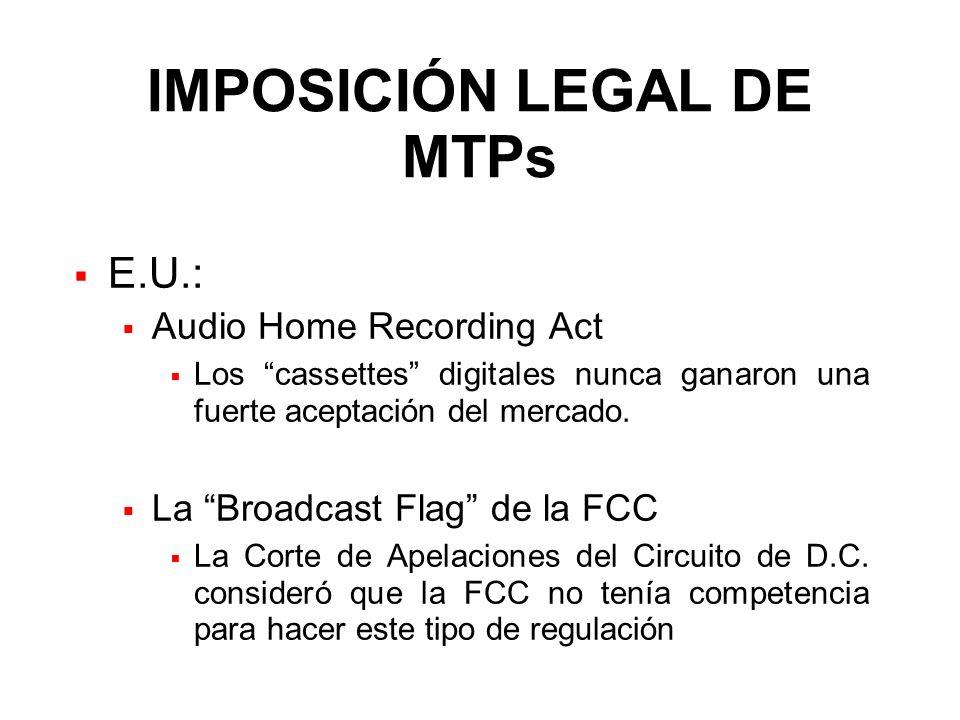 IMPOSICIÓN LEGAL DE MTPs