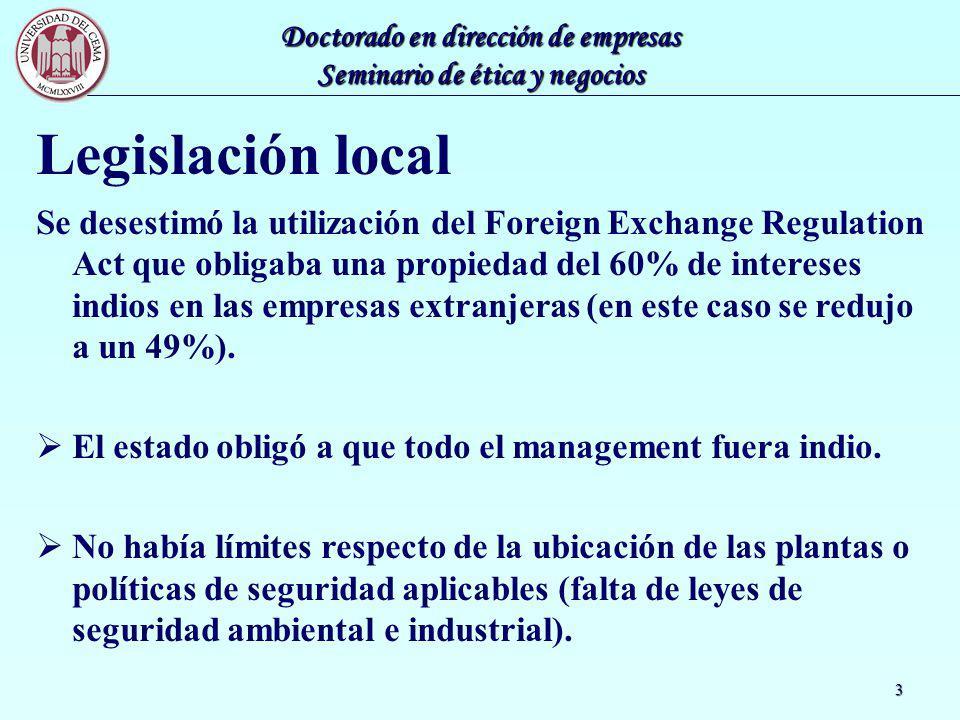 Legislación local