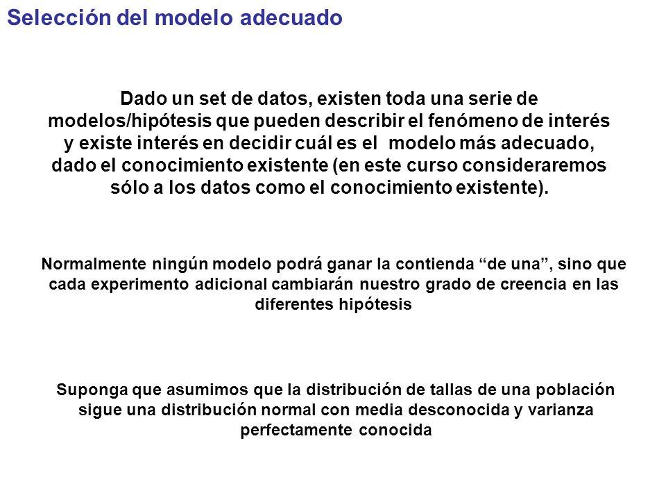 Selección del modelo adecuado