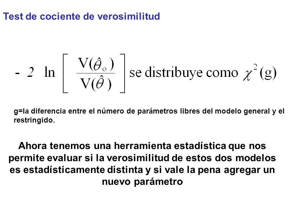 Test de cociente de verosimilitud