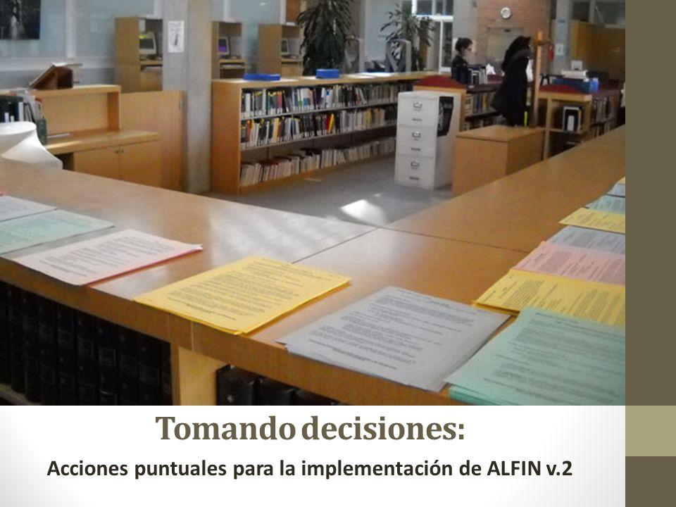 Acciones puntuales para la implementación de ALFIN v.2