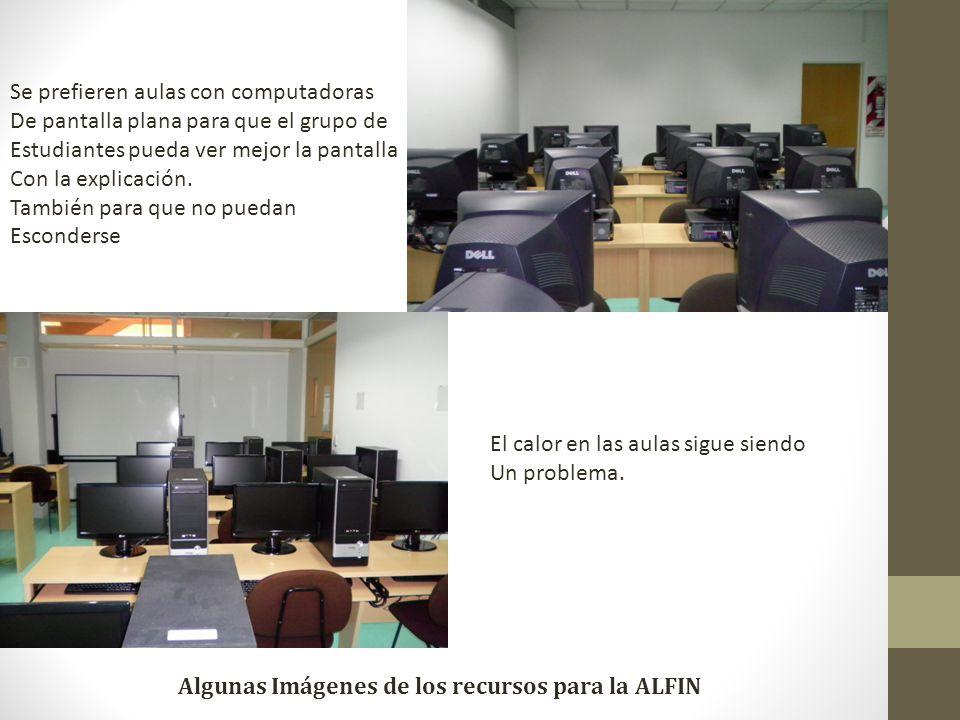Algunas Imágenes de los recursos para la ALFIN