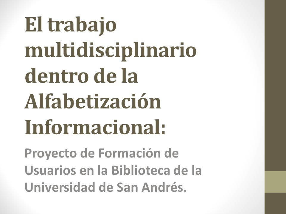 Primera Jornada de Alfabetización Informacional – ALFIN